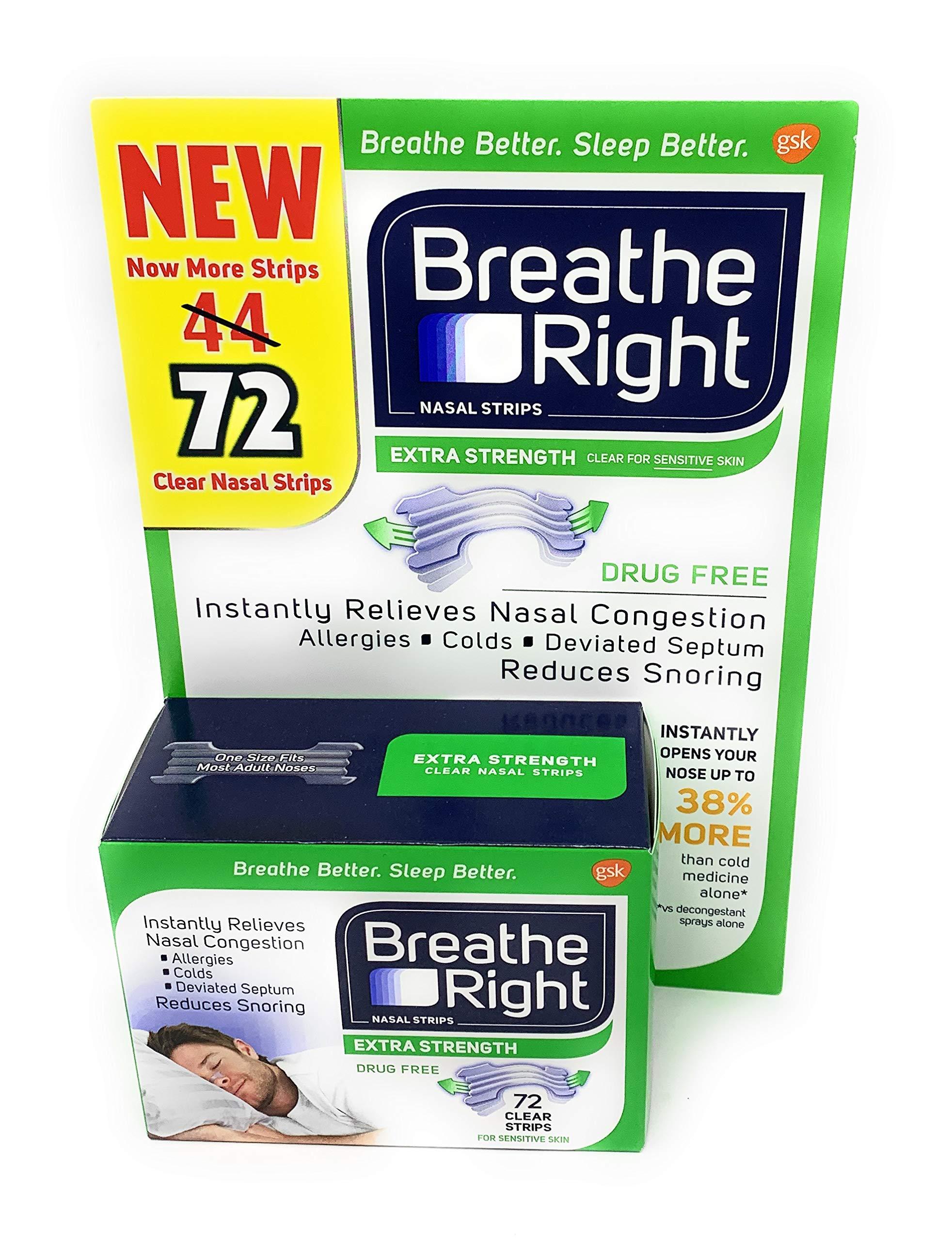 Breathe Right Nasal Strips Sensitive