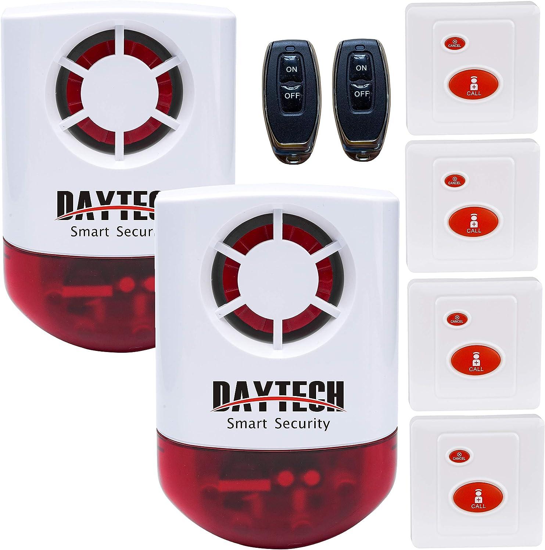 Daytech Strobe Siren Alarm Home Caring Max 52% OFF SOS Alert Luxury Sy Loud Outdoor