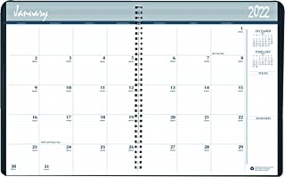 $20 » House of Doolittle 2022-2023 Two Year Calendar Planner, Monthly, Black Cover, 8.5 x 11 Inches, January - December (HOD2620...