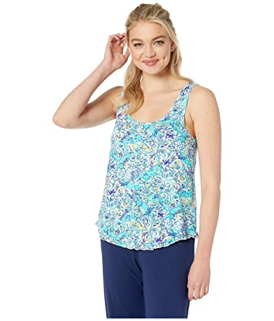 Lilly Pulitzer Ruffle PJ Tank (Melon Fig Tint Monkey Sea) Women