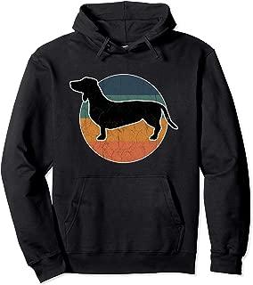 Vintage Retro Dachshund Dog Silhouette Wiener Weiner Pullover Hoodie