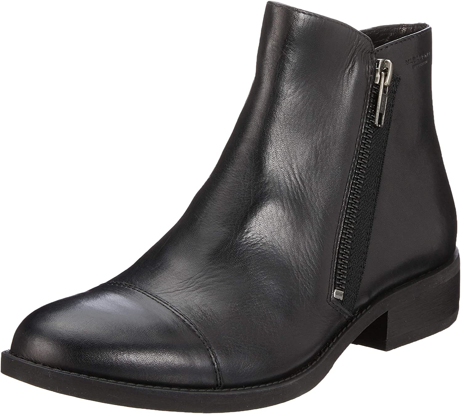 Vagabond Women's Cary 4620-001-20 Leather Zip Ankle Boot Black