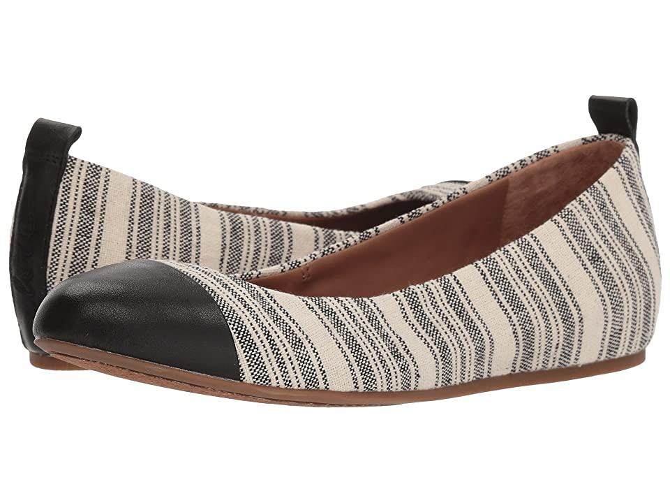 ED Ellen DeGeneres Lilliane2 (Black/Natural Large Ticking Stripe) Women