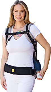 LÍLLÉbaby Baby Carrier Tummy Pad for Additional Support, Black - Small