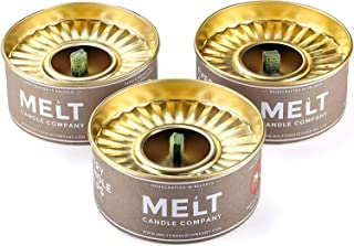 Melt Candle Company Set of 3 Outdoor Candles Deet-Free Emergency Candles with Large Flame