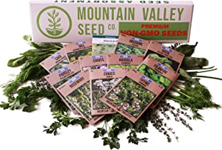 Culinary Herb Seeds Garden Collection | Deluxe Assortment | 12 Non-GMO Seed Packets: Basil, Dill, Oregano, Mustard, Cilant...