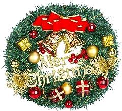 HALOVIE Kerstkrans, 30 cm, deurslinger, kerstkrans, deur, buitendecoratie, kerstdecoratie om op te hangen, kerstkrans, dec...