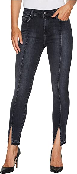 7 For All Mankind - The Ankle Skinny w/ Seams & Front Pockets in Vintage Noir 5