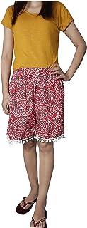 Ukal Printed Cotton Shorts for Women & Girls