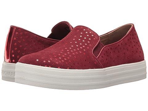 Skechers Double Up Lil Rhine Steps Slip-On Sneaker(Girls') -Light Pink Cheap Low Cost ocaNPAsyg