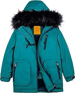 Wantdo Girls Waterproof Ski Jacket Parka Outdoor Jacket Windproof Warm Winter Coat