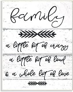 Stupell Industries A Little Crazy Loud Love Family Wall Plaque, 10 x 15, Multi-Color