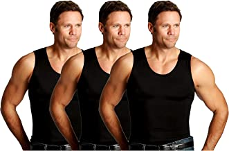 Insta Slim 3 Pack Men's Firming Compression Muscle Tank Shirt