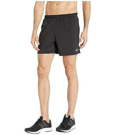 New Balance Impact Shorts 5 (Black Multi) Men