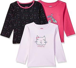 Amazon Brand - Jam & Honey Baby-Girl's Regular fit T-Shirt