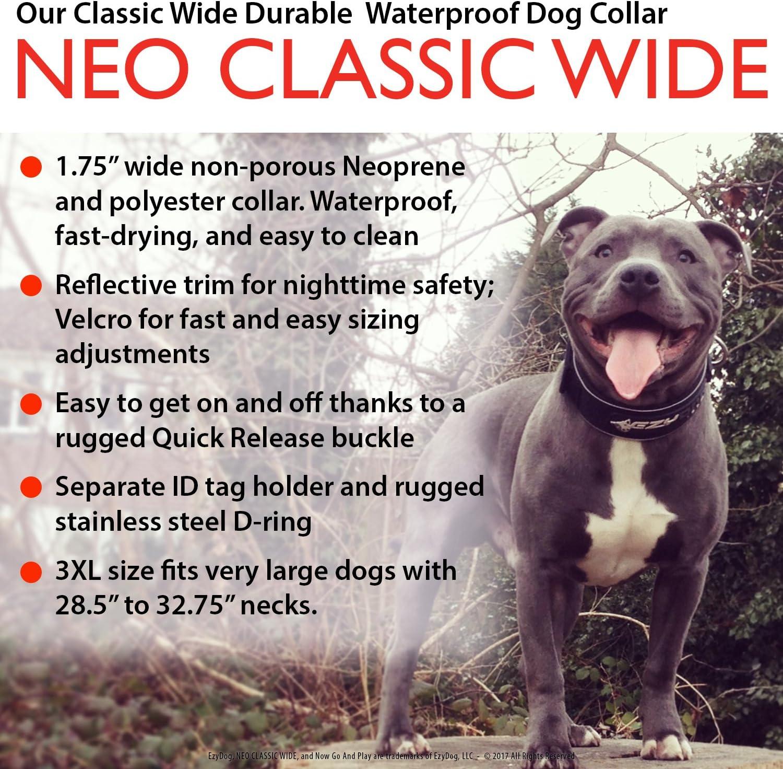 6. Ezydog Neo Classic Wide Dog Collar