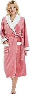 M&M Mymoon Womens Fleece Robes, Soft Plush Long Bathrobe, Thick Kimono Robes for Womens, Warm House Coat