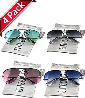 67e30ea3007 Elite Gradient Oceanic Lens Oversized Rimless Metal Frame Unisex Aviator  Sunglasses