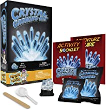 Discover with Dr. Cool Crystal Growing Kit - Grow Stunning Blue Crystals (Includes Real Calcite)