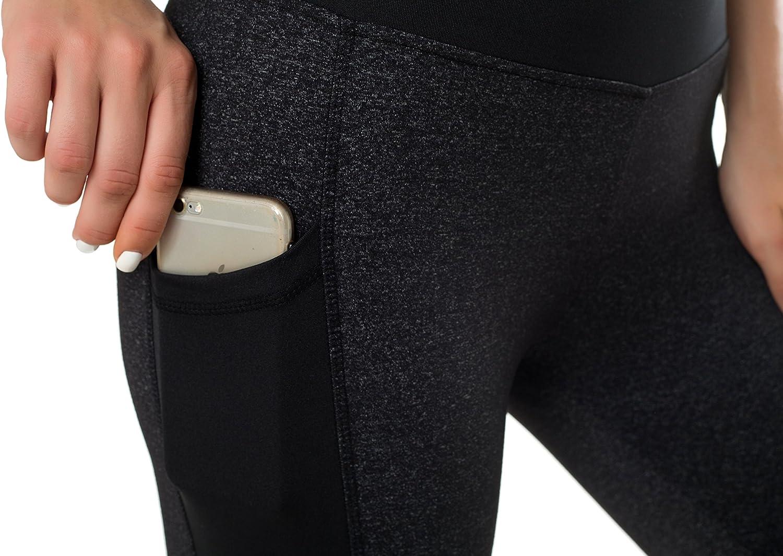 en maille Sudawave Pantalon de yoga pour femme avec poches lat/érales