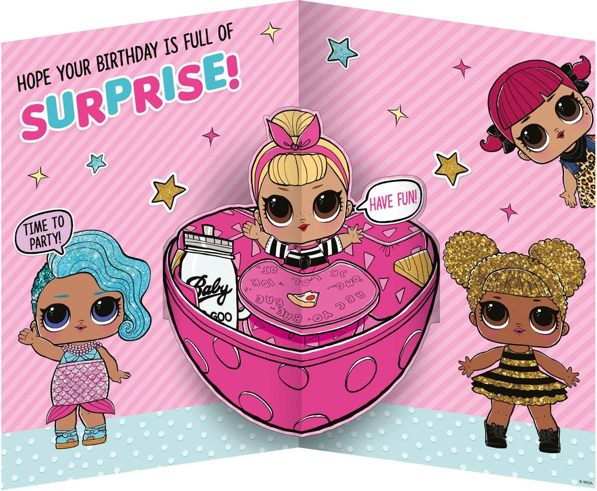 Carte de Vœux Personnalisée LOL dollz poupées fête d/'anniversaire A6 fille licorne