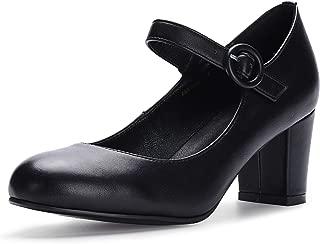 chunky heel mary jane shoes