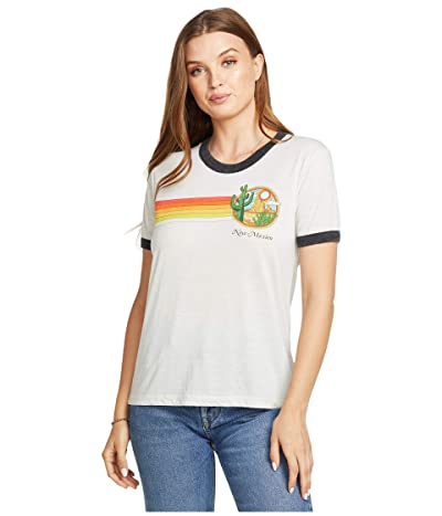 Chaser New Mexico Recycled Blocked Jersey Ringer Tee (Salt/Black) Women