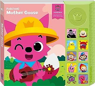 """Pinkfong Children's Mother Goose Sound Book, Pink/Light Green, 8.7"""" x 7.8"""""""