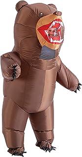 Spooktacular Creations - Disfraz de oso inflable de cuerpo entero - Disfraz para Halloween de alta calidad, talla única para adultos, color marrón