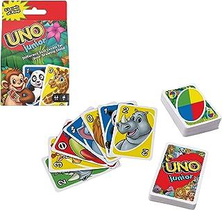 UNO Junior jeu de société et de 56 cartes avec dessins d'animaux, pour enfants dès 3 ans, GKF04