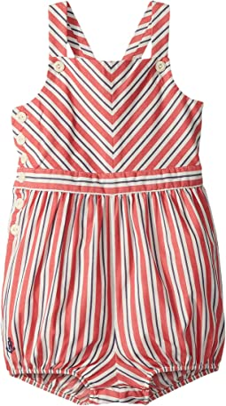Striped Bow-Back Cotton Romper (Infant)