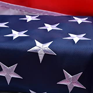 Best American Flag 3x5 Outdoor, Heavyweight Nylon US Flags 3x5 Outdoor, with Stitched Stripes Embroidered Stars, Brass Grommets, USA Flag Built for Outdoor Use Review