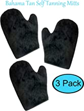 3 Pack Reusable & Washable, Bahama Tan Self Tanning Mitt with Thumb, Double Sided, Ultra Soft Full-Size Gloves for a Flawless, Streak Free Tan. Premium Applicator Mitts great for all Sunless Tanners.