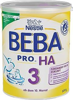 Nestlé BEBA PRO HA 3, Folgenahrung ab dem 10. Monat, Pulver, mit hydrolysiertem Eiwei?, enth?lt Vitamin A, C & D, 1 x 800g Dose