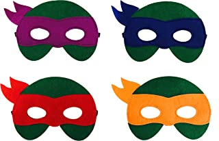 JDProvisions 12 Pieces Superheroes Party Fun Cosplay Felt Masks for Boys Girls (TMNT)