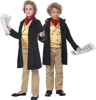 California Costumes Child Unisex Famous Composer/Beethoven Child Costume Black/Gold, Extra Large