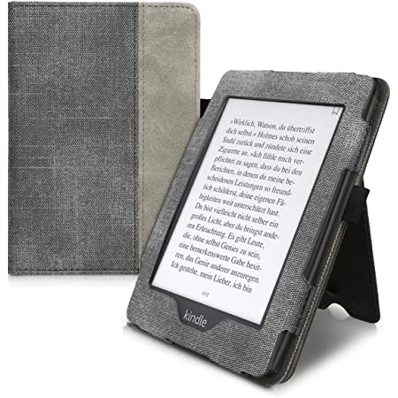 10. Gen - 2018 Grey//Black - PU Leather and PU Suede e-Reader Cover kwmobile Case for  Kindle Paperwhite