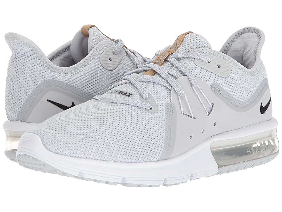 Nike Air Max Sequent 3 (Pure Platinum/Black/White 2) Women's Shoes, Gray