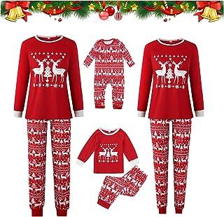ABCSS Ropa para Padres e Hijos Pijamas de Navidad y Halloween Servicio a Domicilio Traje de Manga Larga para Padres e Hijos con Estampado Europeo y Americano.
