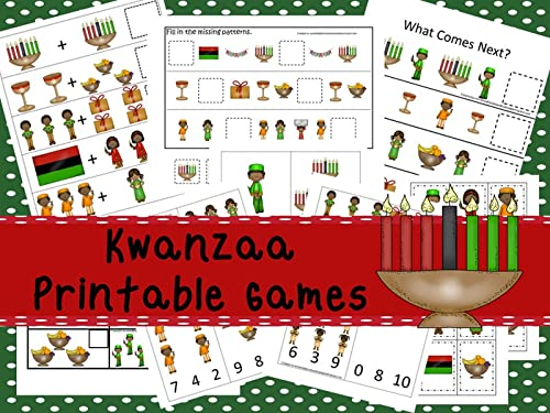 30 printable Kwanzaa themed games and activities