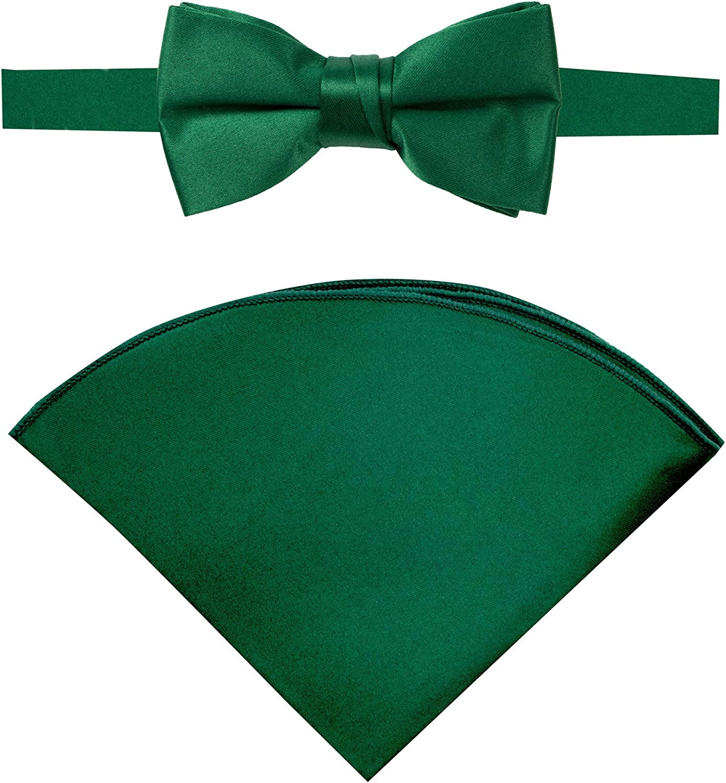Spring Notion Boys' Satin Bow Tie and Handkerchief Set