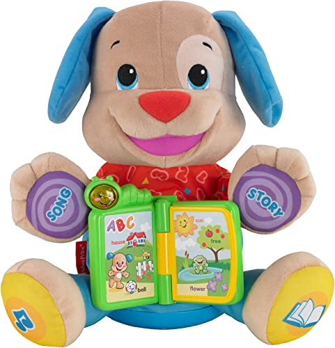 Fisher-Price Mattel – Y6967 Laugh & Learn – Singin' Storytime Puppy (Englische Ausgabe)