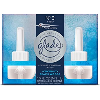 Glade Atmosphere Collection PlugIns Scented Oil Air Freshener Refill, No 3 Free, 2 Refills, 1.5 fl oz