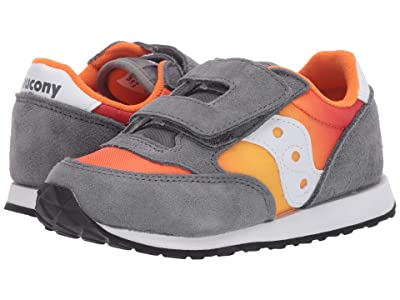 Saucony Kids Originals Jazz Hook Loop (Toddler/Little Kid) (Grey/Orange Fade) Boys Shoes
