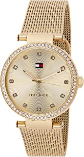 Tommy Hilfiger Women's Gold Dial Stainless Steel Band Watch - 1781864