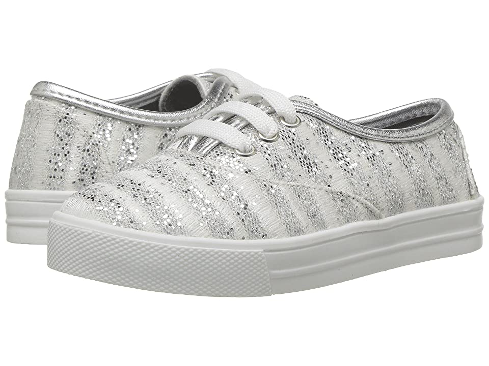 Kid Express Giovanna (Toddler/Little Kid/Big Kid) (Silver Combo) Girls Shoes