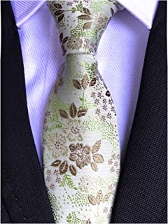 Mens Skinny Novelty Small Floral Cravat Ties Luxury Pattern Wedding Self Necktie