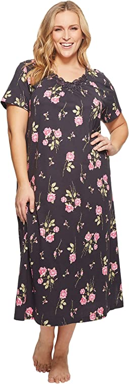 Carole Hochman Plus Size Soft Jersey Short Sleeve Gown