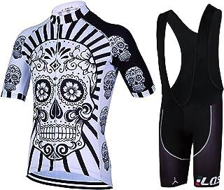 Feilaxleer Ropa Ciclismo Verano para Hombre y Mujer - Un Conjunto de Ciclismo Jersey Maillot y Culotte Pantalones Cortos