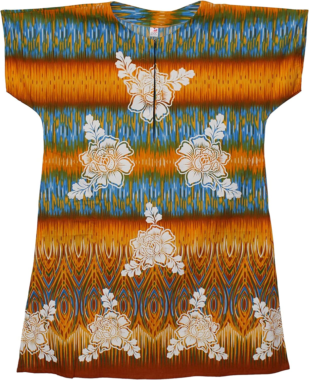 African Planet Women Kaftan Caftan Cotton Zipper Lounger House Dress Gown